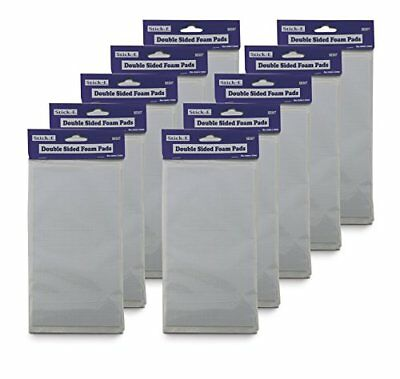 Stick-E Double Sided Foam Squares 12mm 10 PACKS