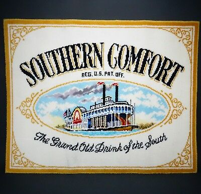 """Rare HTF Southern Comfort Advertising Carpet Sign 34"""" x 27"""" Excellent Condition!"""