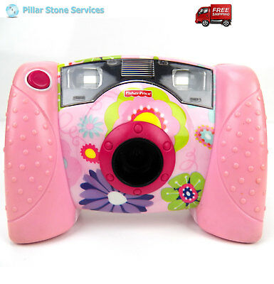 Fisher Price Pink Floral Kid Tough Digital Camera with Flash Tested and Working