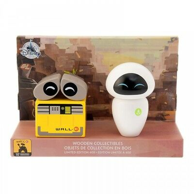 New Disney Store Japan Figure Wood WALL-E and Eve From Japan F/S