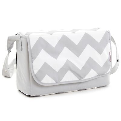 My Babiie Baby Changing Bag / Mat For Stroller / Pram / Pushchair - Grey Chevron