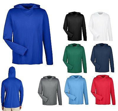 Men's Performance, Long Sleeve, Hooded T-Shirt, Hoodie Unlined Uv Wicking Xs-4Xl