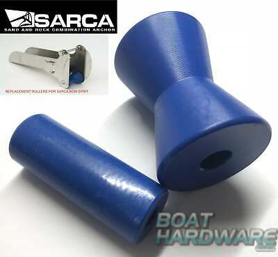 BOW ROLLERS Set of Replacement Rollers for Sarca Bowsprit Size 1-2 BLUE