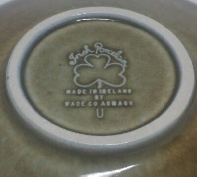 vintage WADE COARMAGH IRISH PORECLAIN GREEN SHAMROCK saucer