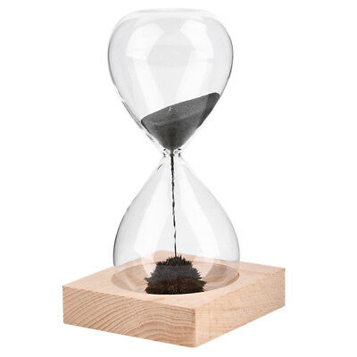 1Pcs Hand-blown Timer clock Magnet Magnetic Hourglass Hourglass crafts sand P4X7