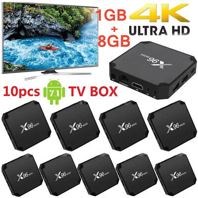10X X96 Mini Android 7.1 Smart TV Box S905W Quad Core 1G 8G 4K WiFi H.265 Media