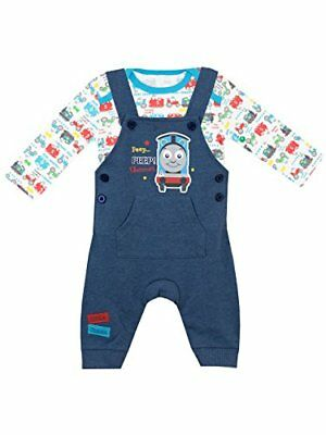 Thomas  Friends Baby Boys Thomas The Tank Engine Dungaree Set Age 3 to 6 Months