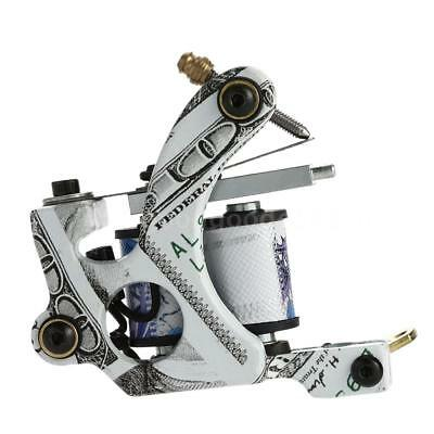 Nouveau Pro Tattoo Machine Shader Liner 10 Wrap bobines tatouage Instrument E5A7