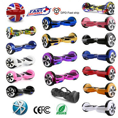"6.5"" Electric Smart Self Balancing Scooters Hover Bluetooth Board 2 Wheels UK"