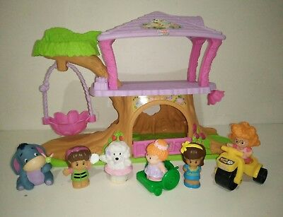 Fisher Price Little People Fairy Tree House & Little Girls