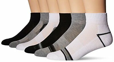 3d9ba87416 Perry Ellis Men s Portfolio Free Style 6 Pack Performance Quarter Socks  White.