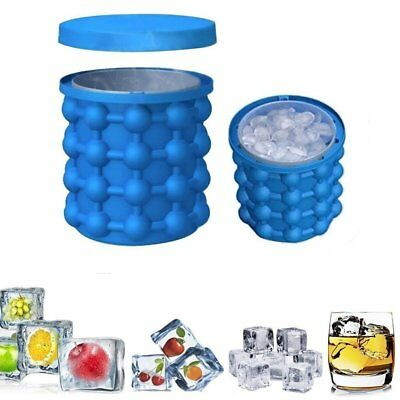 Ice Cube Maker Genie Silicone Space Saving Ice Cubes Molds For Chilling Whiskey
