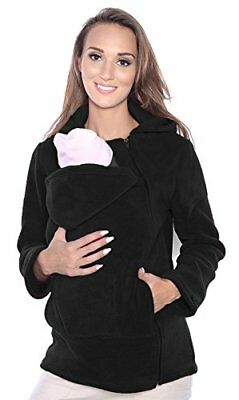 Maternity Polar warm fleece Hoodie  Pullover for two  for Baby Carriers 12, B