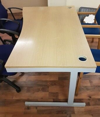 Strong modern design desk Table Wood Top Metal Legs 160cm X 70cm 3 Available
