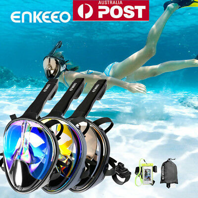 Full Face Snorkeling Snorkel Mask Anti-Fog Diving Goggles Free Breath For GoPro!