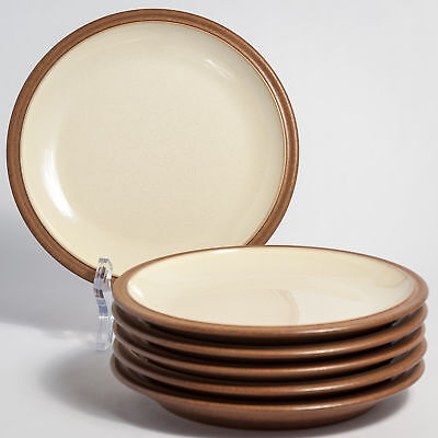 "Denby CINNAMON 6 Six Tea Side Bread & Butter Plates 7"" - 1st Quality"