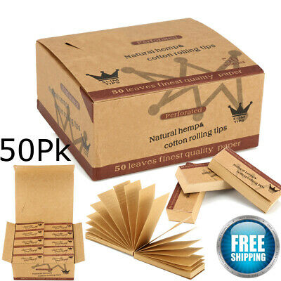 (50PK) Hornet Brown Smoking Perforated Rolling Filter Tips Paper size 60*21MM