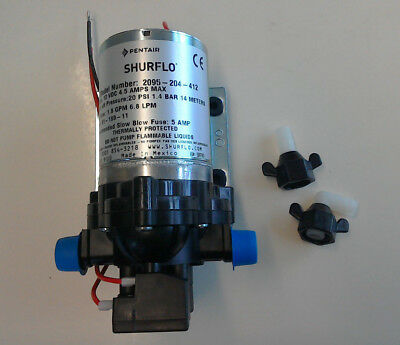 Shurflo Water Pump 20psi 12V 1.4 Bar Automatic On Demand Caravan Motorhome Boat