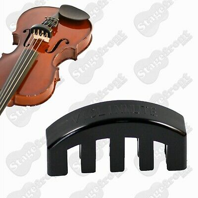 Rubber Violin Mute For Quiet Practice / Suits All Size Violins **brand New**