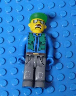 LEGO Minifig 4 Juniors Construction Worker with Blue Shirt, Green Vest x1PC