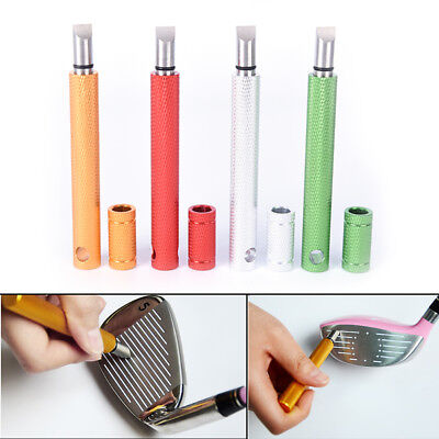 1pc Golf Wedge Iron Groove Sharpener Club Cleaner Cleaning Tool Square YH