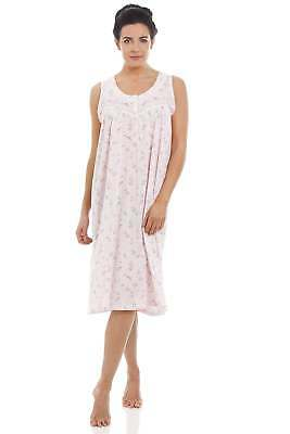Camille Pink Sleeveless Floral Nightdress