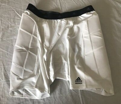 Adidas Men's Slider Short With Padded Sides - White - 3XL New