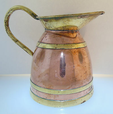 Vintage 1950's Peerage Copper and Brass Jug Pitcher Made in England