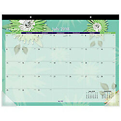 """AT-A-GLANCE Paper Flowers Academic Desk Pad, 22"""" x 16 13/16"""" July 2018-July 2019"""