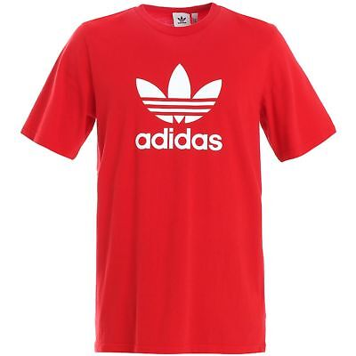 ADIDAS TREFOIL TEE SHIRT Grey-White classic logo retro old school new