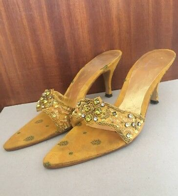 81b7bfd8402f1 ASIAN WEDDING YELLOW   Orange High Heels - £10.00