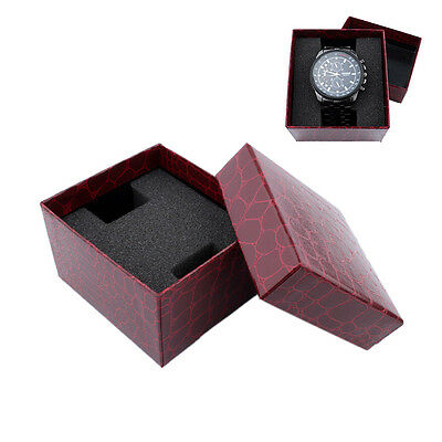 Red PU Noble Durable Present Gift Box Case For Bracelet Jewelry Watch_ŋŋ