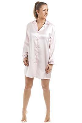 Camille Luxe chemise Satin rose clair