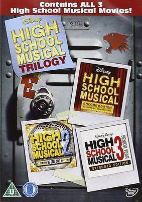 High School Musical 1-3 Box Set Brand New DVD Fast Post  Zac Efron 8717418226008