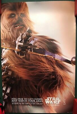 2015 Star Wars Weekends Chewbacca Annual Passholder Poster WDW