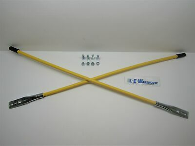 "Pair Of 28"" Yellow Snowplow Guide Sticks - New Style - Replaces Meyer 09917"