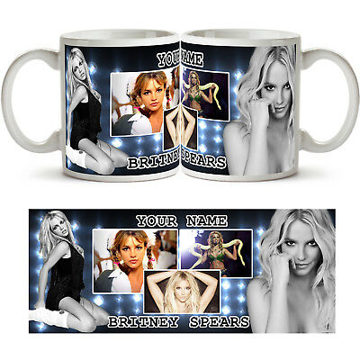 BRITNEY SPEARS PERSONALISED Ceramic Photo Mug Cup Tea Coffee Add Any Name Gift