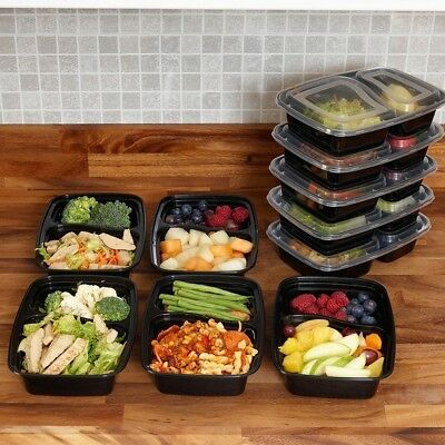 10/20 Plastic Food Containers Bpa Free Bento Meal Prep Storage Airtight Lids UK