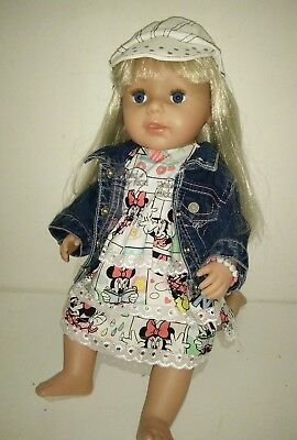 Zapf Creations Baby Born Sister Doll, Long Hair, Moveable Limbs Drinks Cries