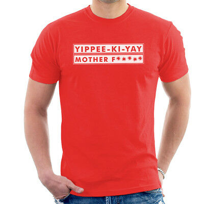 Die Hard Yippee Ki Yay Movie Quote Men's T-Shirt