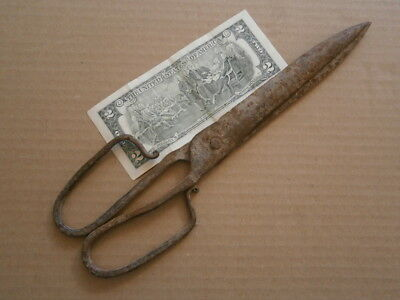 large hand-forged scissors 17th century