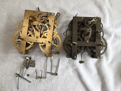 2x  Antique Clock Movements
