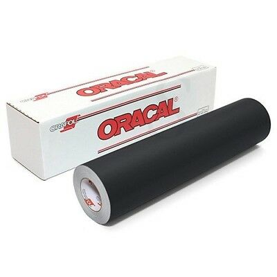 Oracal 651 Matte Permanent Vinyl 30cm x 1.8m - Black. Shipping Included