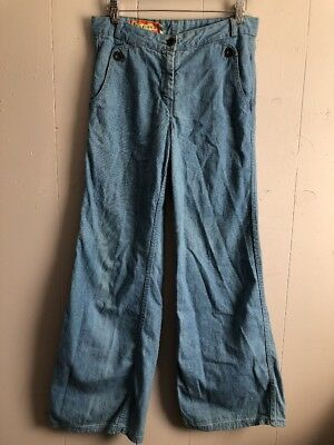 VTG Foxmoor Light Wash Blue Sailor High Waisted Denim Jeans Pants Size 13