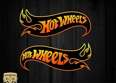 Pegatina Decal Sticker Autocollant Adesivi Aufkleber  2 X  Hot  Wheels