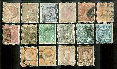 Group of 16 Spain Early Stamps