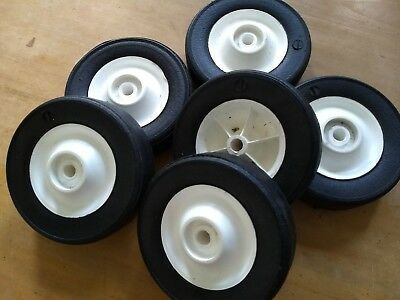 A Pair of 150mm diameter Solid Rubber Tyred Wheels.
