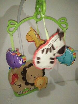 Fisher Price Cot Luv U Zoo Crib Mobile with Soothing Sounds Zoo Lions
