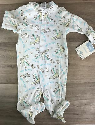 Vintage Carter's Sleeper Size 6-9 M Coverall Footed Pjs Animals Sleep Play wear