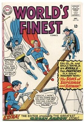World's Finest (1941) #154 9.0 Vf/nm 1St App Of Super Sons